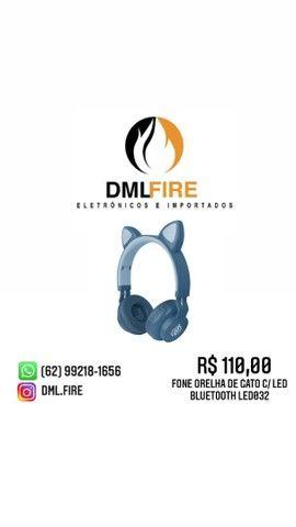 FONE ORELHA DE GATO C/ LED BLUETOOTH LED032  - Foto 3