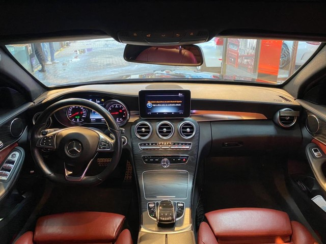 Mercedes C250 Sport, 2015, interior vermelho, blindada nível 3A, configuração Linda  - Foto 11
