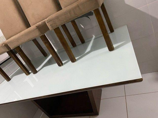 Mesa madeira maciça 6 cadeiras  - Foto 2