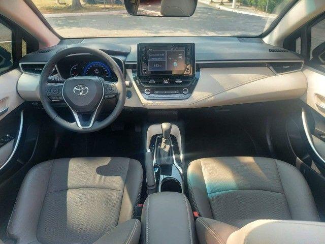 469. Corolla Altis Premium 1.8 Hybrid 2021 - 4.000 km - Blindado com Teto Solar - Foto 12