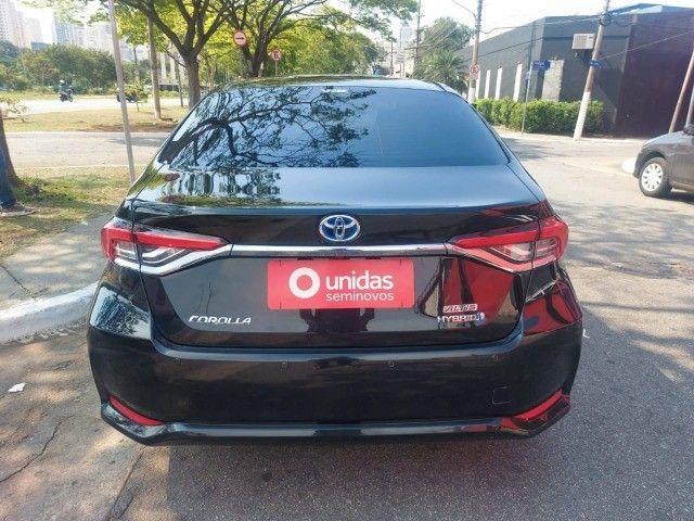 469. Corolla Altis Premium 1.8 Hybrid 2021 - 4.000 km - Blindado com Teto Solar - Foto 5