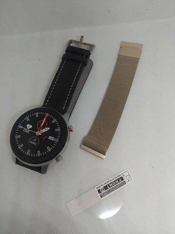 Smartwatch DT78 - Película e Pulseira Extra de Brinde - Novo - Foto 5