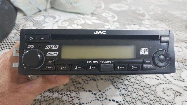 Radio Som Cd Player Mp3 Jac J3 2012 2013 Original - Foto 3