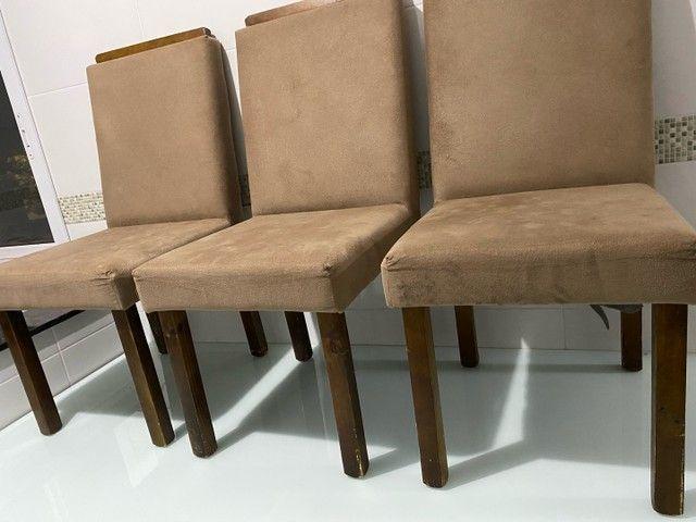 Mesa madeira maciça 6 cadeiras  - Foto 3