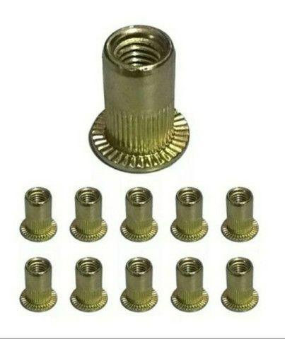 Porcas rebites de rosca interna 5mm - 19 peças - Foto 2