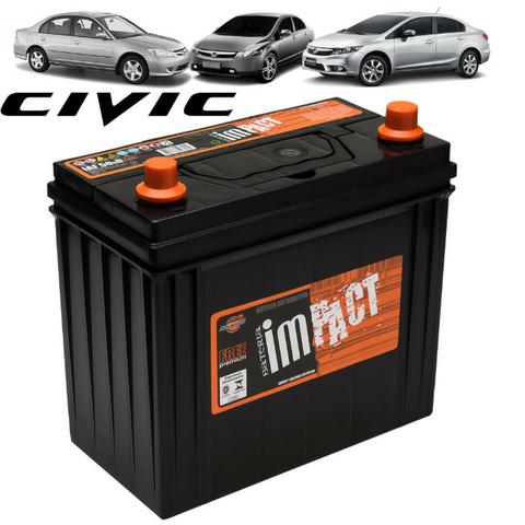 Bateria Impact Iaf50hd Específica para Honda Civic - 50A nova lacrada