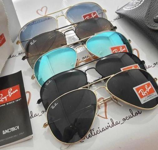 84510030a320c PREÇO IMPERDÍVEL! Óculos de Sol Ray Ban Aviador! 100% Proteção UV400! Aceito  cartão!