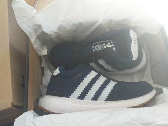 a37c12a8069 Tênis Infantil Iniki Azul Marinho e Branco (28) - Roupas e calçados ...