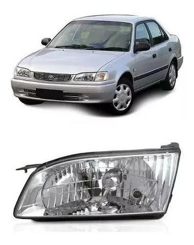 Farol Cromado Toyora Corolla 1998 1999 2000 01 2002 Esquerdo