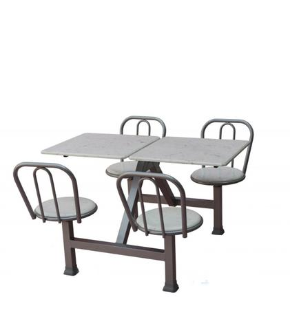 Mesas Conjugadas, com 4 cadeiras e tampão de mármore sintético