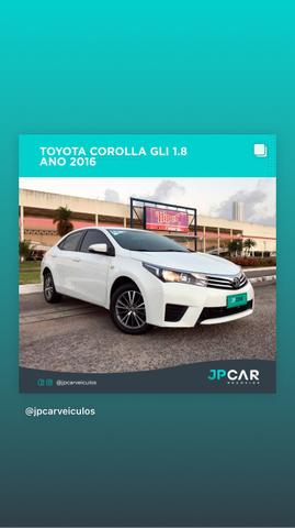 Toyota corolla gli 1.8 automático cvt flex 2015/2016 - jpcar