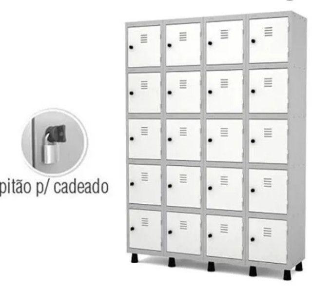 Roupeiro de aço 20 portas, guarda volumes, armário vestiário - Foto 3