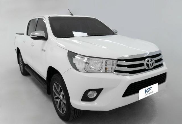 Toyota Hilux 2.8 SRV 2016 Blindado Branco Automático Completo