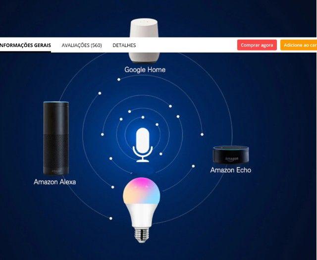 Lâmpada 15W Inteligente Wifi - Foto 3
