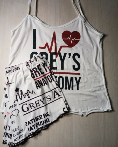 Pijama curto feminino Grey's Anatomy
