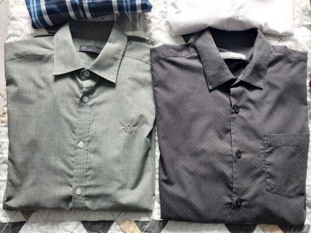 Camisetas Sociais manga longa. Tam g - Foto 2
