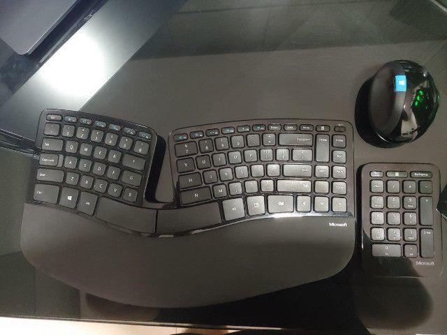 Kit completo - Mouse, Teclado numérico e ergonômico