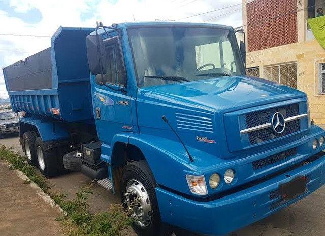 Caminhão Mercedes 1620 - 2008  Caçamba  Azul  - Foto 2