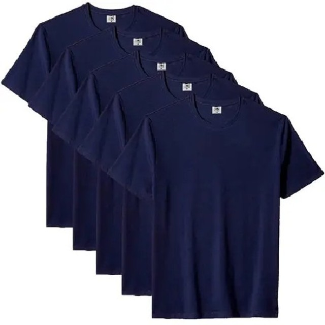 Kit com 5 Camiseta Masculina Básica Algodão Premium Colors - Part.B - Foto 5