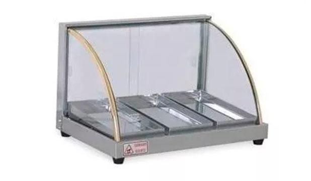 Estufa Vidro Curvo Inox 3 Bandejas 127V Ou 220V p/ Salgados - Cód 21