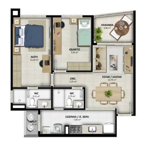 Lançamento Celi - Reserva Alameda - 2 e 3 Qtos c/ até 03 suites - Na Alameda das Árvores - Foto 17