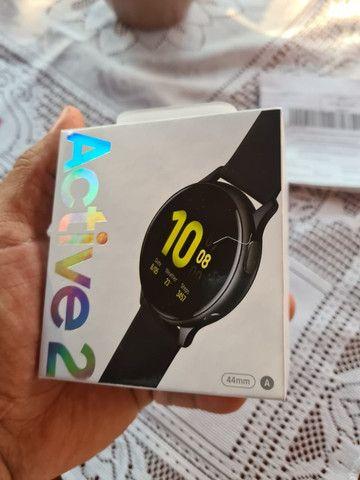 Smart Whatch Samsung Galaxy Active 2 preto, zero e lacrado