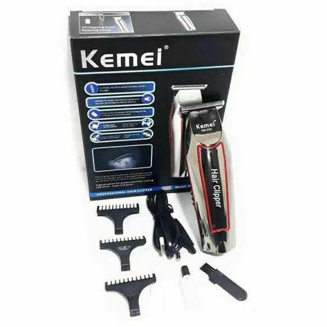 Máquina de cabelo e acabamento Kemei profissional 032