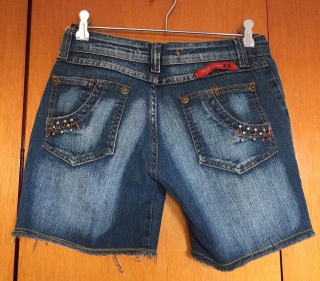 Bermuda jeans feminina - Foto 3