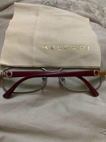 Óculos Bvlgari prata e vinho - Foto 3