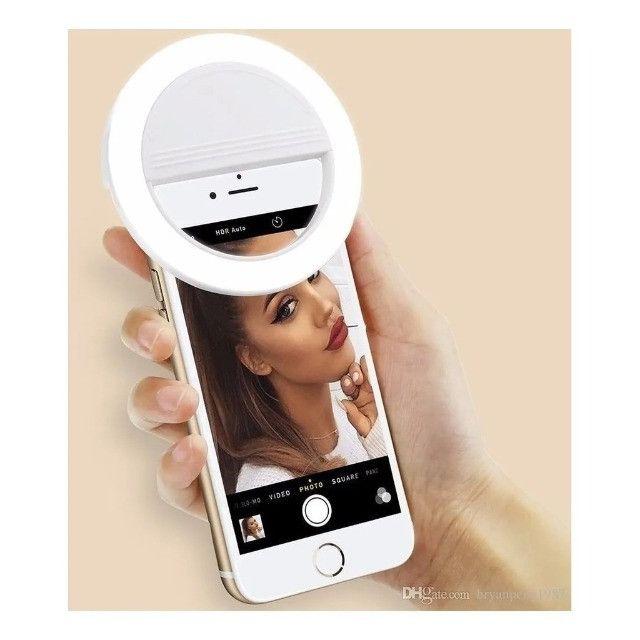 E que se faça a luz Clipe Anel Luz Selfie Ring Light Flash Celular Universal 617 - Foto 3