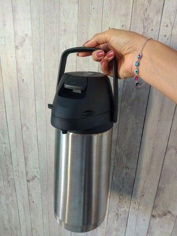Garrafa térmica inox com alavanca - Foto 2