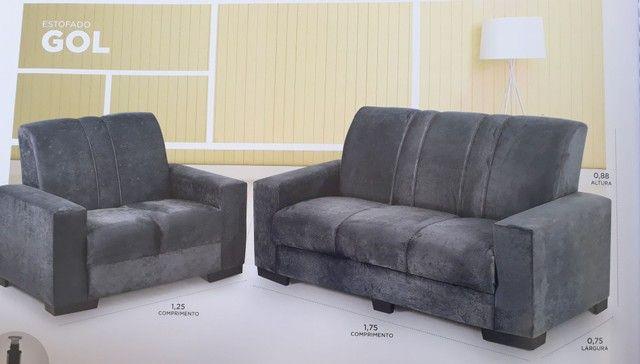 Jogo de sofa tecido de suede novo entrega grátis  - Foto 5