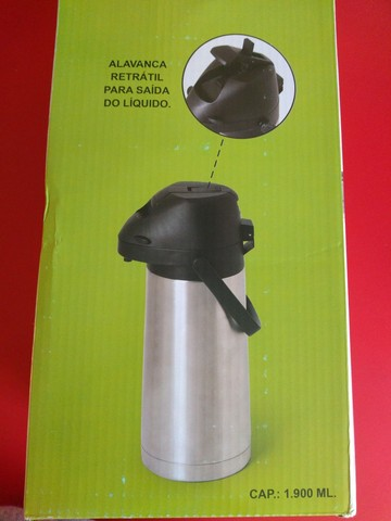 Garrafa térmica inox com alavanca - Foto 4