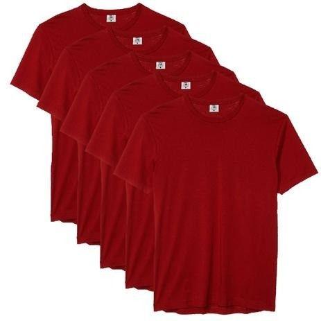 Kit com 5 Camiseta Masculina Básica Algodão Premium Colors - Part.B - Foto 4