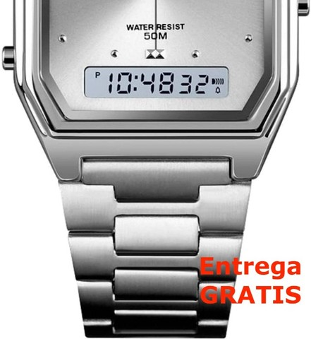 Relógio Skmei Digital e Analogico 1612 - Prata / Entrega Grátis / Feminino - Luxo - Fino - Foto 5