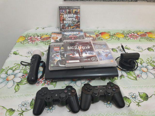 PS3 18 Jogos 2 controles PS Move