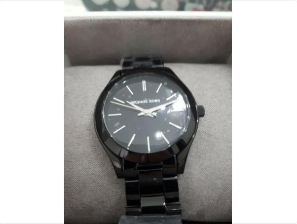 c5432e4e451d1 Relógio Michael Kors (feminino) Mini Slim Runway Preto - Manaus AM ...