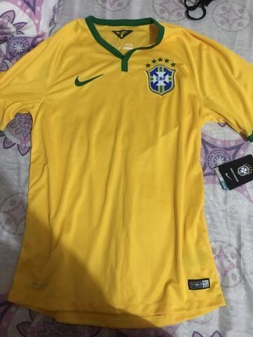428bc16d0066d Camisa Seleção Brasileira 2014 - ORIGINAL P - Roupas e calçados ...