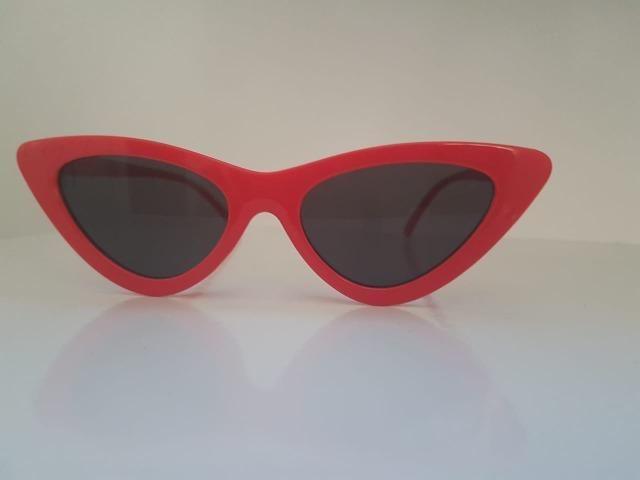 aed15f0fbd23f Óculos De Sol Gatinho Anos 80 Vermelho Uv Retrô Vintage Tumblr - Novo