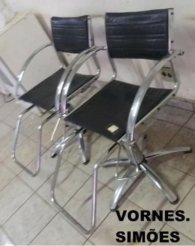 Cadeira Para Salão De Beleza E Barbeiro Hidráulica Giratória. O Valor é de Cada - Foto 4