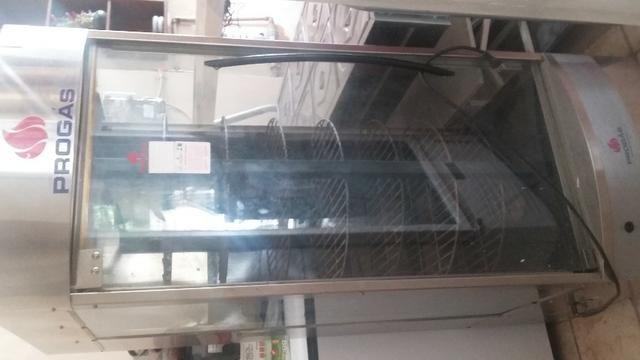 Máquina frangueira e geladeira vitrine - Foto 4