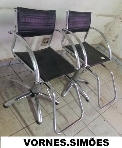 Cadeira Para Salão De Beleza E Barbeiro Hidráulica Giratória. O Valor é de Cada - Foto 2