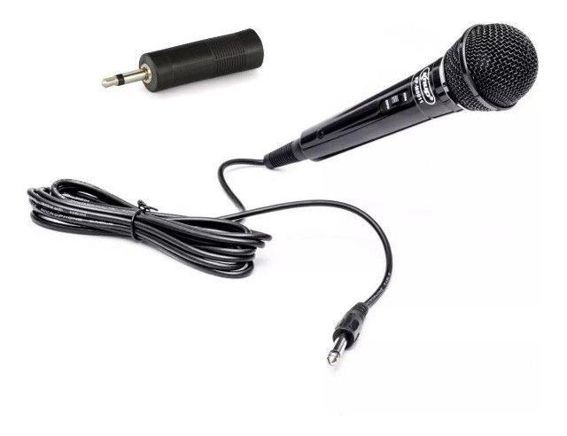 Microfone Com Fio Knup P10 Com Adaptador Para Pc E Note