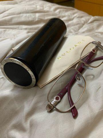 Óculos Bvlgari prata e vinho - Foto 4