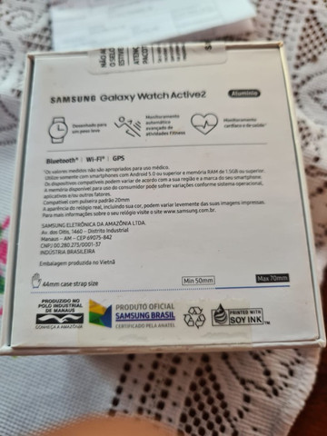 Smart Whatch Samsung Galaxy Active 2 preto, zero e lacrado - Foto 2
