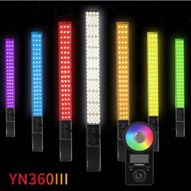 Bastão de led Yongnuo YN360 iii + bateria + carregador + fonte - Foto 3