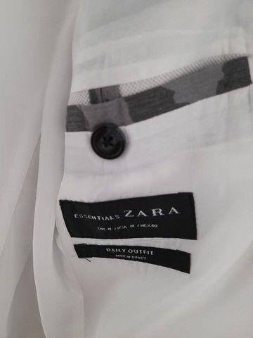 Blazer Branco da Zara Masculino - Foto 2
