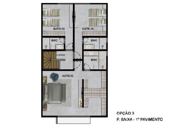 VM-Lançamento de casas no Poço da Panela 258m² com jardins conceito moderno - Foto 5