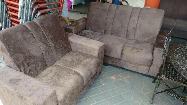 Jogo de sofa tecido de suede novo entrega grátis  - Foto 6