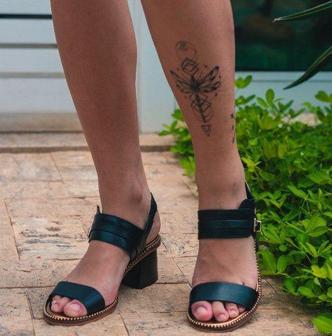 Sandália de Couro Cravo e Canela Nova  - Foto 4